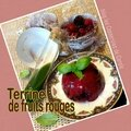 Terrine de fruits rouges coulis <b>citron</b> basilic