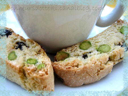 recettes dessert  Biscotti aux cerises sches