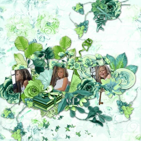 Kastagnette - kit 50 shades of green - photo Caroline - template Idapassion