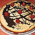 Fraisier crème au <b>chocolat</b> blanc