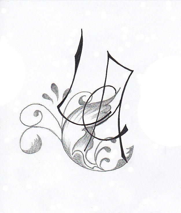 Pin alphabet calligraphie tatouage on pinterest - Tatouage ecriture arabe ...