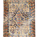 A large metal-<b>thread</b> 'landscape' carpet for the Palace of Heavenly Purity, Late Qing Dynasty