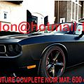 DODGE CHALLENGER, <b>film</b> covering vinyl autocollant stickers Total covering <b>noir</b> <b>mat</b>, peinture covering <b>noir</b> <b>mat</b>, covering jantes
