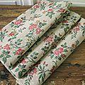 Un coupon de <b>tissu</b> tissage tapisserie en fil de soie et coton