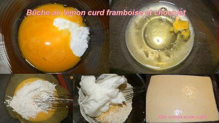 buche lemon curd framboise et chocolat