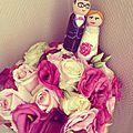 Wedding cake topper <b>personnalisé</b>
