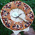 Pizza soleil aux crevettes et poivron rouge (avec photos des étapes)