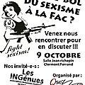réunion publique vendredi 9 octobre : sexisme à la fac