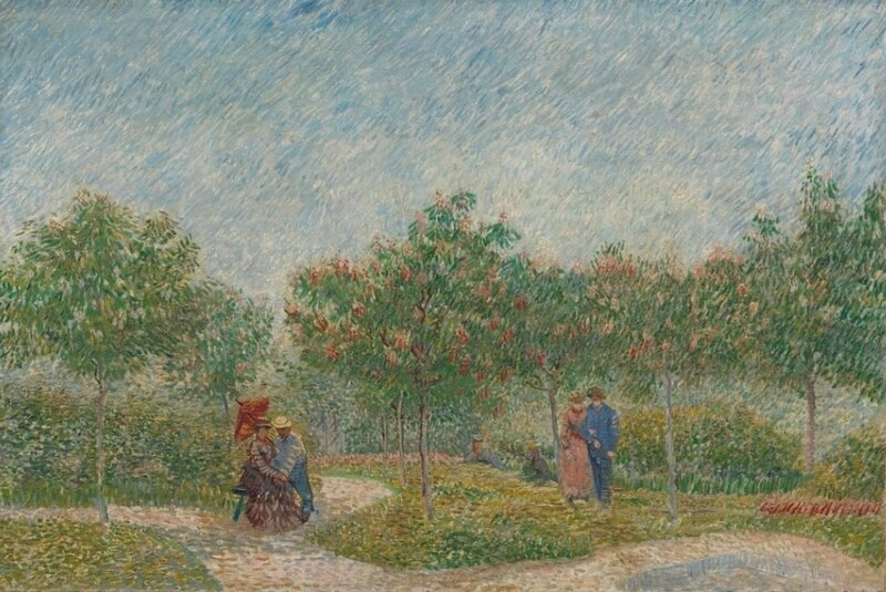 Garden with Courting Couples (2)