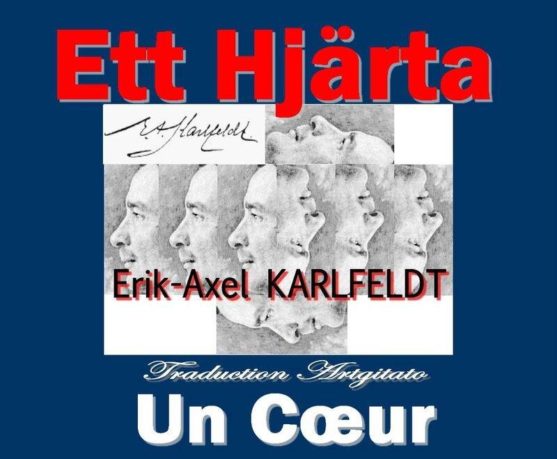 Ett hjärta Karlfeldt Erik Axel Karlfeldt Poésie Artgitato Traduction un Coeur
