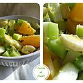 Salade de fruits au gingembre et miel