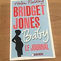 J'ai lu Bridget Jones Baby le journal de Helen Fielding