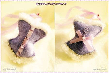 corset en feutrine lavande a gagner sur ma boutique lacaudry creation