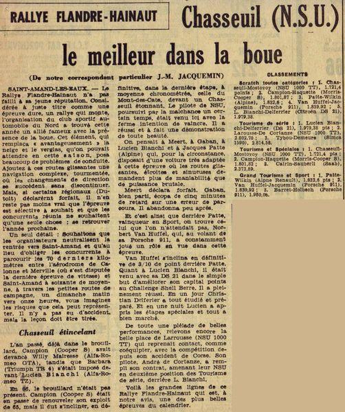 1966 - 3e Rallye Flandre-Hainaut GC1