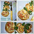 Feuilletés roulés apéritif au fromage et <b>saumon</b> <b>fumé</b>, quel délice!