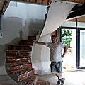 escaliers en briques sur voûtes sarrasines