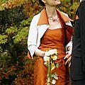 <b>Mariage</b> en automne : superbe photos de mariés et <b>bijoux</b> cuivrés