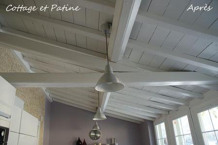 Cottage et patine le blog for Poutres peintes en gris clair