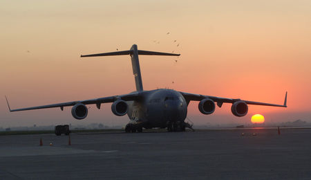 C-17 cargo aircraft at Incirlik Air Force base