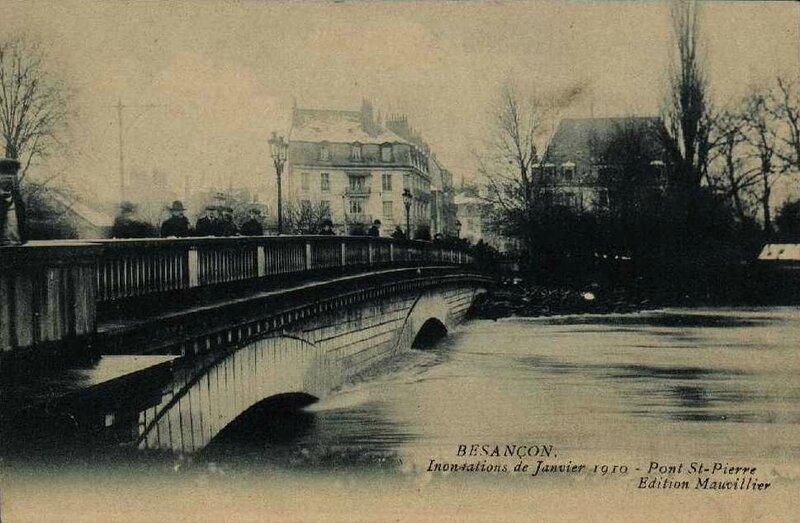 inondation 1910 pont saint pierre