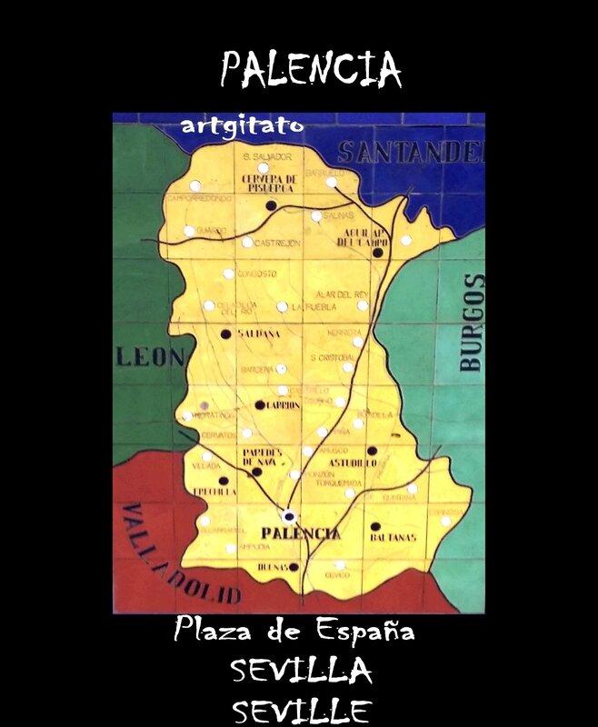 Palencia Carte Plaza de España Sevilla Artgitato