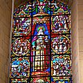 Vitrail à la gloire de Charlemagne de l'abbatiale Saint Florent du Mont-Glonne (SAINT-FLORENT-LE-VIEIL, MAUGES-SUR-LOIRE)
