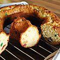<b>Cake</b> au Jagermeifter (cerises confites et raisins secs)
