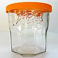 Vintage ... Pot en verre LE PARFAIT * Couvercle <b>orange</b>