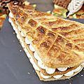 Millefeuille D' Automne Crème Mascarpone Vanille Fève De <b>Tonka</b> Pommes Caramélisées