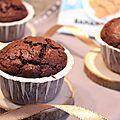 Muffins <b>banana</b> bread au chocolat