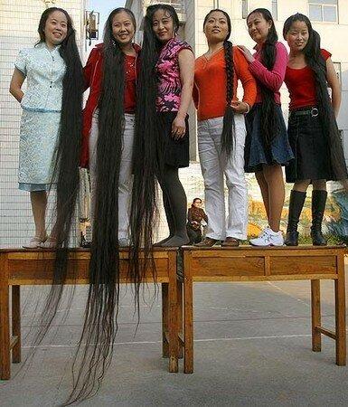 Cheveux long jusqu'au pied