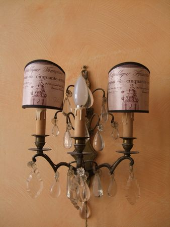crytal scone with lampshades
