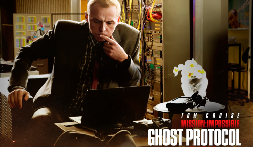 Simon Pegg dans Mission Impossible 4