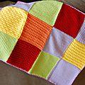 <b>Plaids</b> en tricot façon patchwork