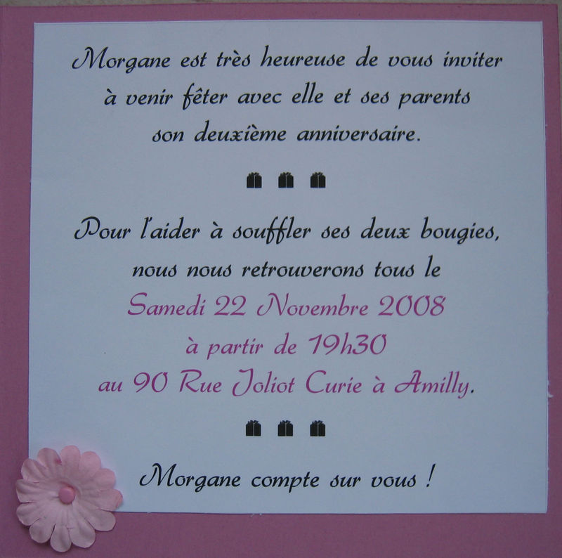 texte d invitation anniversaire original. Black Bedroom Furniture Sets. Home Design Ideas