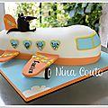 Gâteau avion pour L'anniversaire de Tristan et Lucien