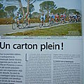 "PHOTO DANS LE MAGAZINE "" LE CYCLE """