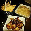 Tartinade de thon et chips d'aubergines