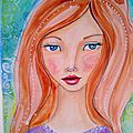 artjournal : how to draw and paint a whimsical girl