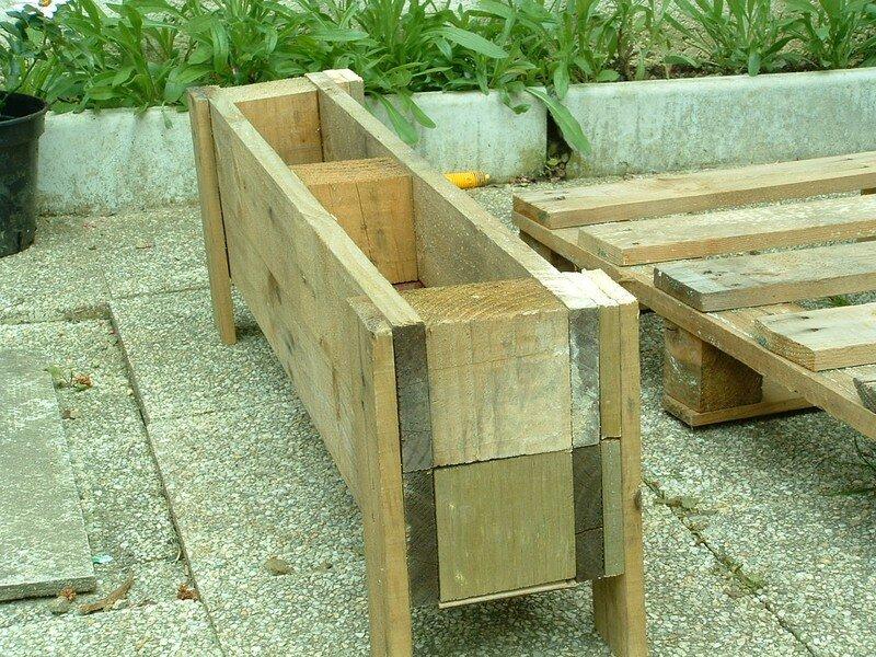 Fabriquer une jardiniere avec des palettes maison design - Fabriquer jardiniere bois ...