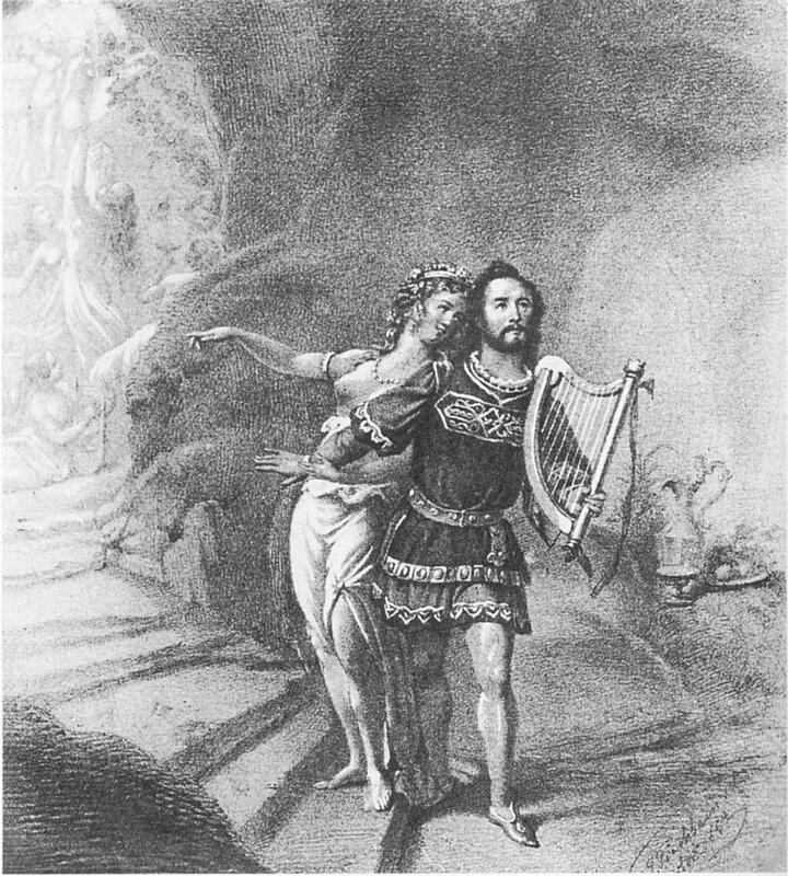 Joseph Tichatschek als Tannhäuser und Wilhelmine Schröder-Devrient als Venus in der Uraufführung 1845