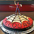 <b>Gâteau</b> Spiderman