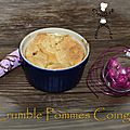 crumble pommes coings