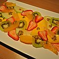 Carpaccio de salade de fruits