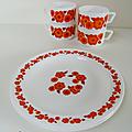 Vaisselle ... Assiettes à dessert Arcopal modèle <b>LOTUS</b>