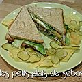 Club Sandwich au poulet et bacon