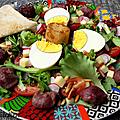 La salade gourmande de gésiers et chèvre chaud