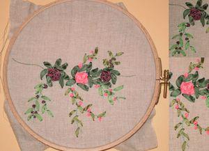 Guirlande de roses en ruban... 56079053_p