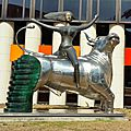 The <b>abduction</b> of Europe, sculpture by Nikos & Pandelis SOTIRIADIS