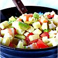 Jour 17 : des pâtes à la <b>tomate</b>, du jambon cru, une envie d'exotisme et de fraîcheur !!